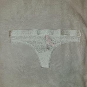 2for15 Victoria's Secret White Logo Thong